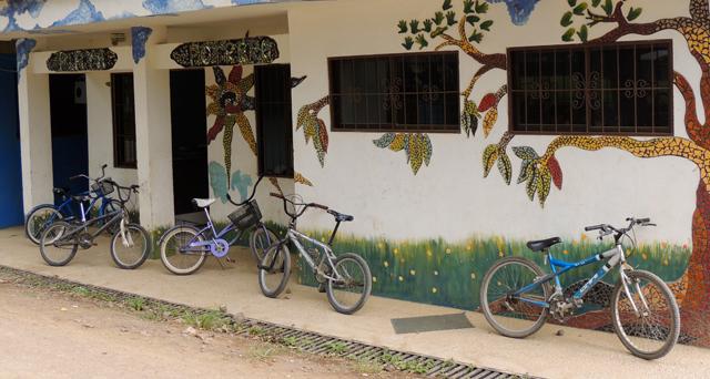 Bikes along the Kids Club