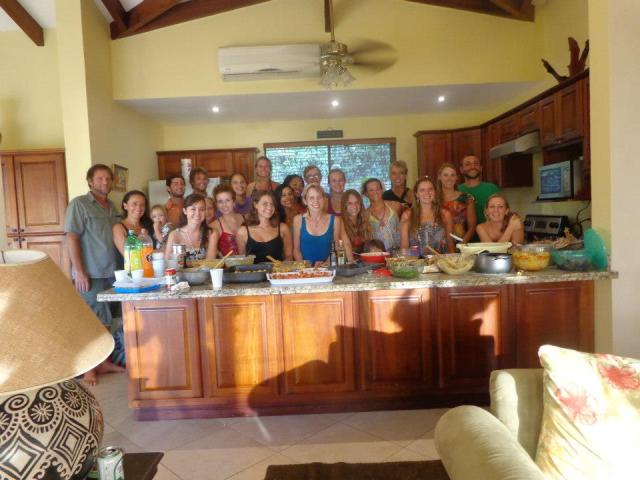 AM team in the kitchen on Thanksgiving