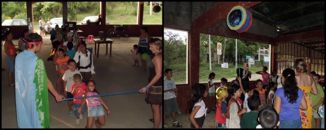 Doing the limbo and breaking the piñata