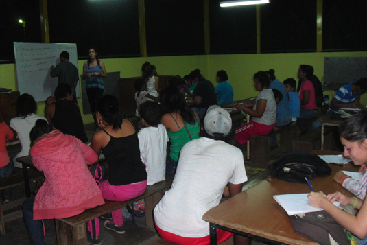 English class in Chiquilistagua