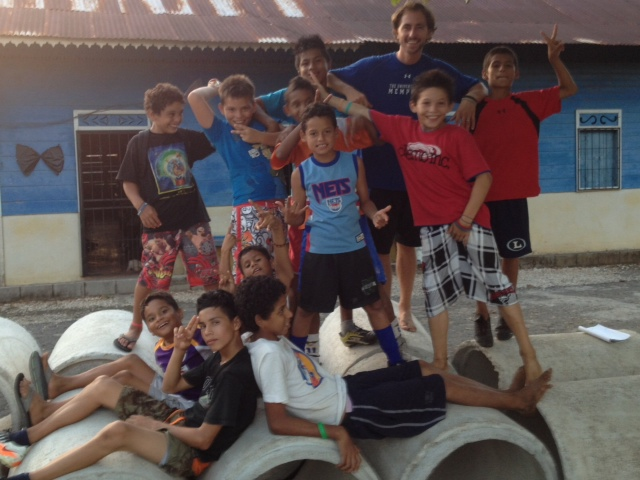 John with Brasilito kids