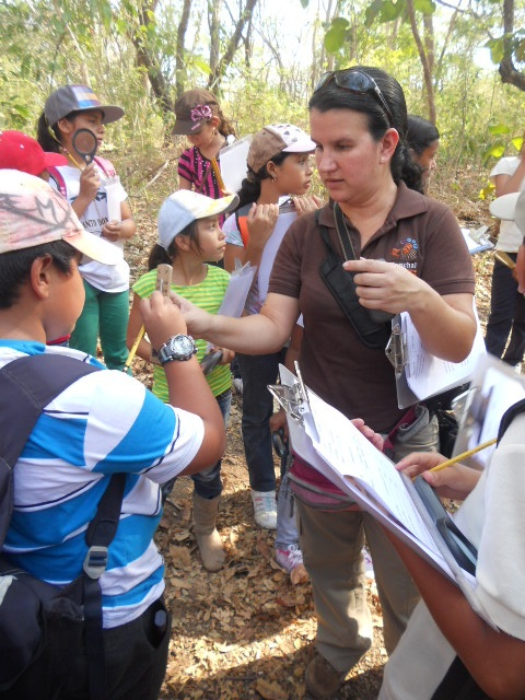 Learning about wildlife in Reserva Conchal
