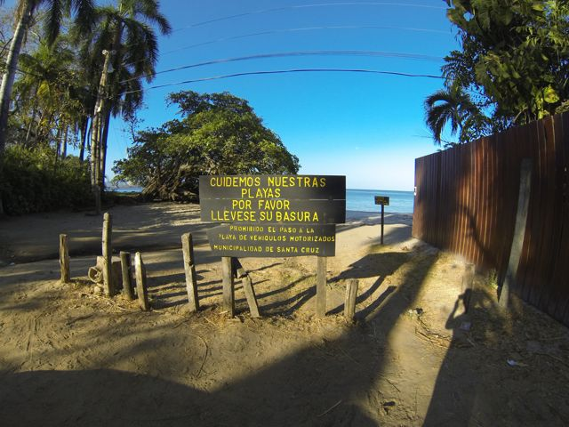 The entrance to Playa Penca