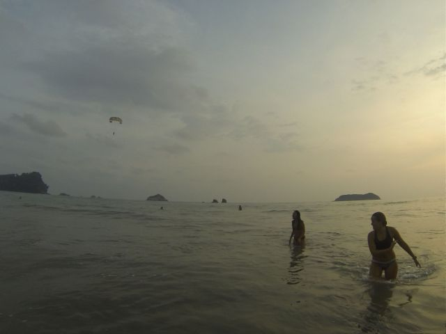 Sunset on Manuel Antonio Beach